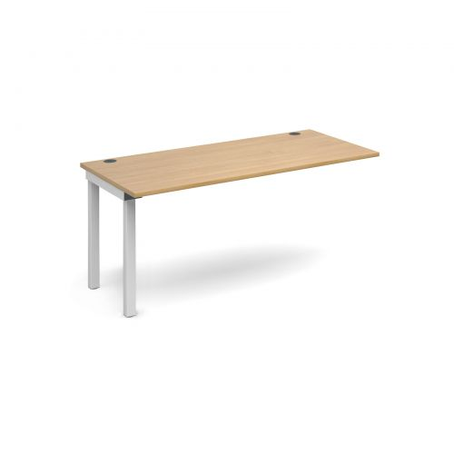 Connex add on unit single 1600mm x 800mm - white frame and oak top