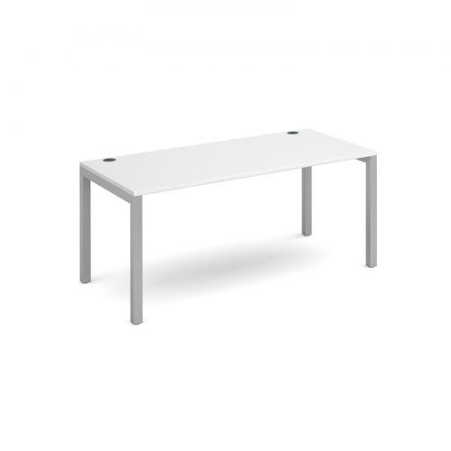 Connex starter unit single 1600mm x 800mm - silver frame and white top