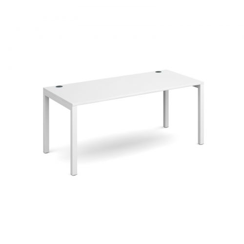 Connex single desk 1600mm x 800mm - white frame and white top