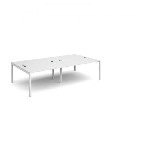 Connex double back to back desks 2800mm x 1600mm - white frame and white top