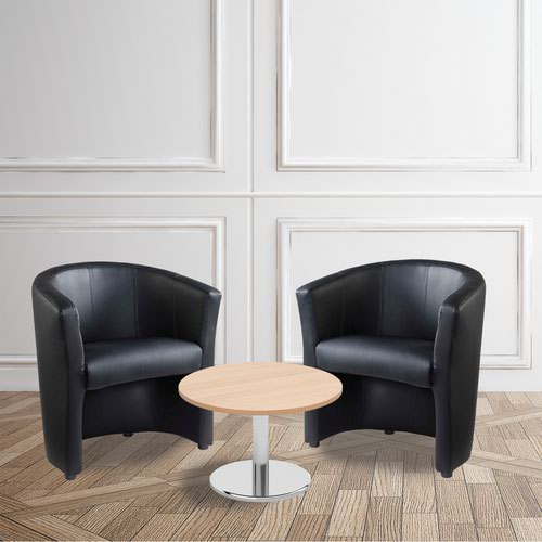Image for Bundle deal 2 x London tub chairs with 600mm coffee table - beech