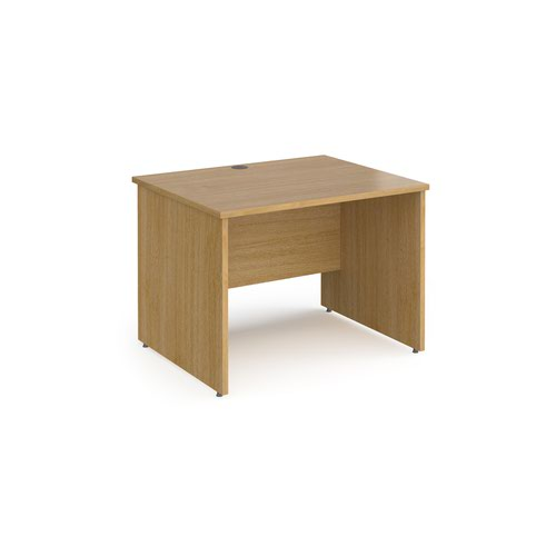 Contract 25 straight desk with panel leg 1000mm x 800mm - oak