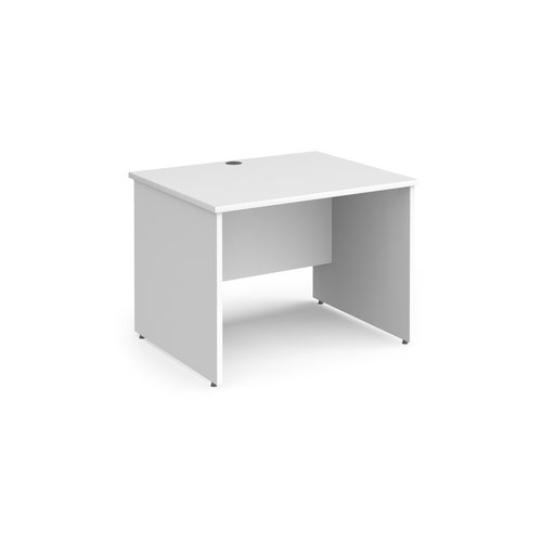Contract 25 straight desk with panel leg 1000mm x 800mm - white
