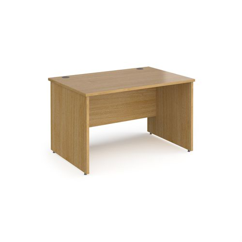 Contract 25 straight desk with panel leg 1200mm x 800mm - oak