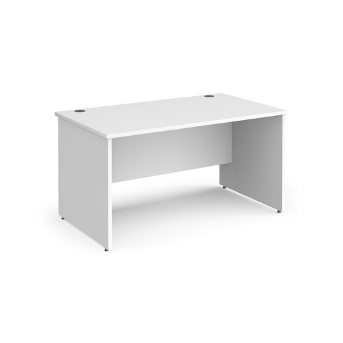 Contract 25 straight desk with panel leg 1400mm x 800mm - white