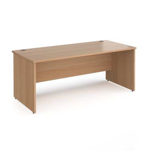 Contract 25 straight desk with panel leg 1800mm x 800mm - beech