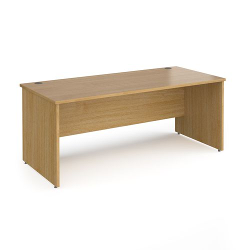 Contract 25 straight desk with panel leg 1800mm x 800mm - oak