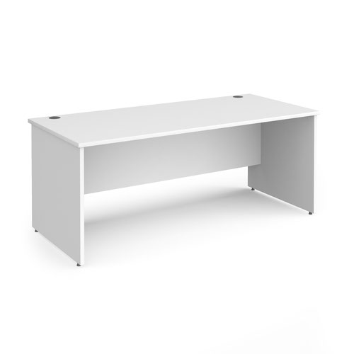 Contract 25 straight desk with panel leg 1800mm x 800mm - white