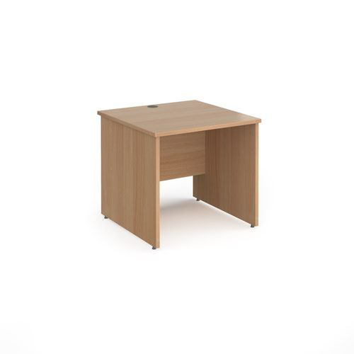 Contract 25 straight desk with panel leg 800mm x 800mm - beech