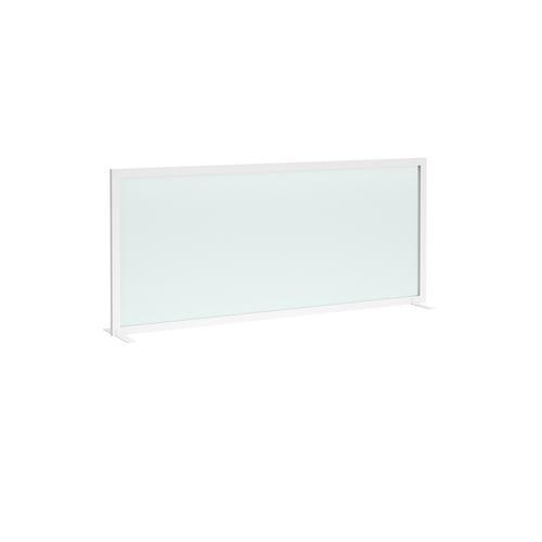 Clear polyvinyl free-standing high desktop screen 1600mm wide