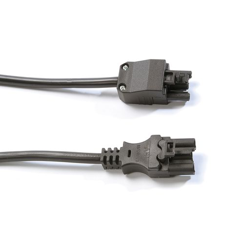 Connector lead male 3 pole connector to female 3 pole connector 1.5M - black