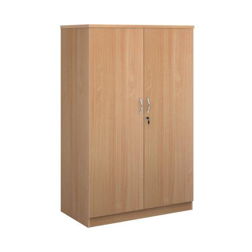 Systems double door cupboard 1600mm high - beech