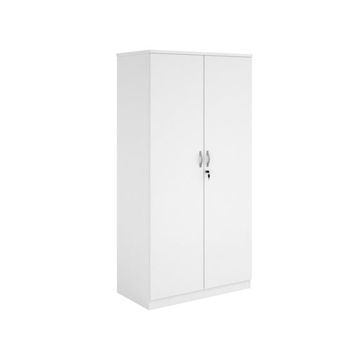 Systems double door cupboard 2000mm high - white