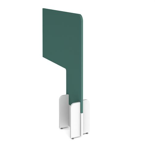 Desk division floor standing fabric screen - carron green