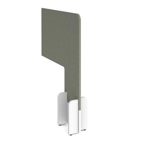 Desk division floor standing fabric screen - hillswick grey