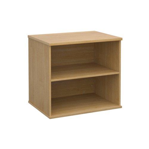 Image for Deluxe desk high bookcase 600mm deep - oak