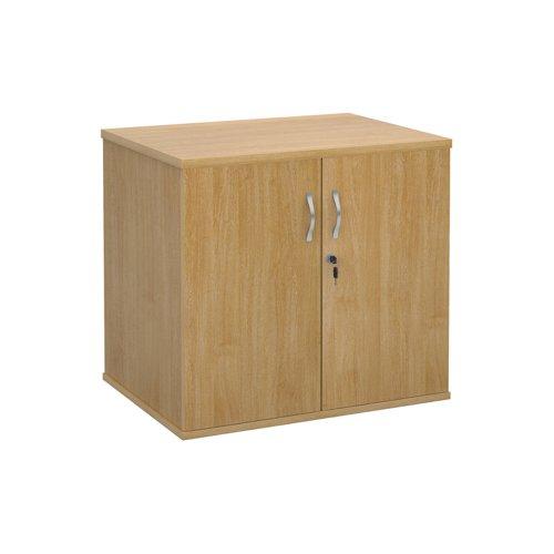 Deluxe double door desk high cupboard 600mm deep - oak