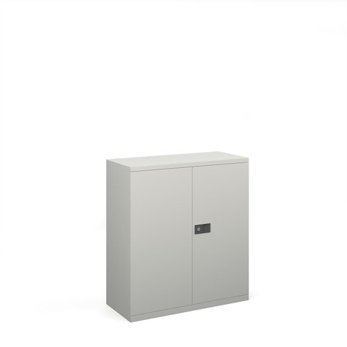 SO- - Steel contract cupboard with 1 shelf 1000mm high - goose grey
