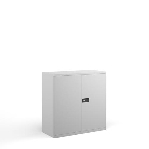Steel contract cupboard with 1 shelf 1000mm high - white