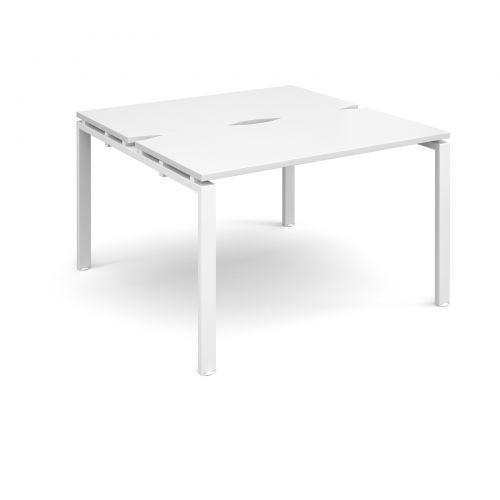 Adapt II starter units back to back 1200mm x 1200mm - white frame, white top