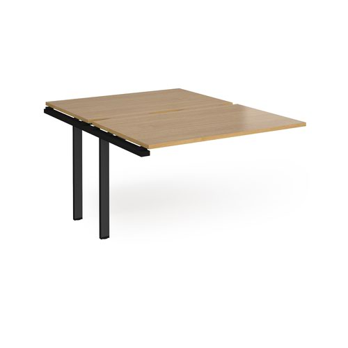 Adapt add on unit single 1200mm x 1600mm - black frame and oak top