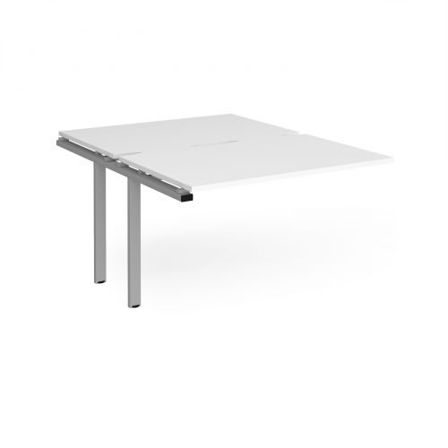 Adapt II add on units back to back 1200mm x 1600mm - silver frame, white top