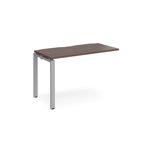 Image for Adapt add on unit single 1200mm x 600mm - silver frame and walnut top