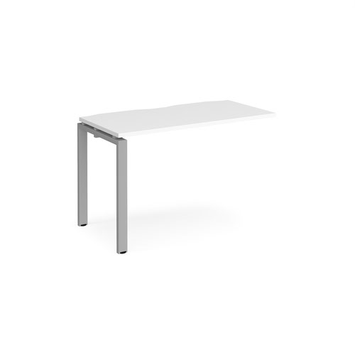 Image for Adapt add on unit single 1200mm x 600mm - silver frame and white top