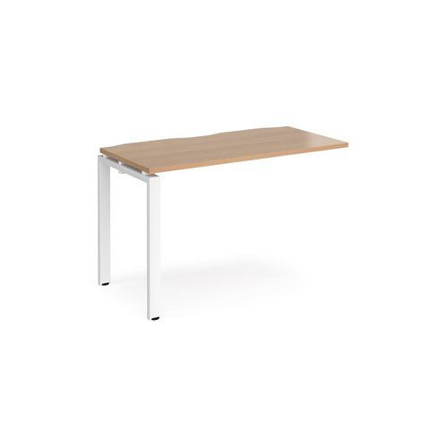 Image for Adapt add on unit single 1200mm x 600mm - white frame and beech top