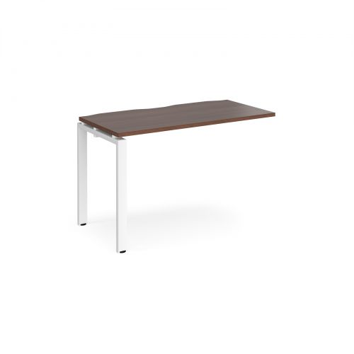 Image for Adapt II add on unit single 1200mm x 600mm - white frame and walnut top