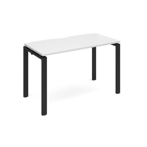 Adapt II starter unit single 1200mm x 600mm - black frame, white top