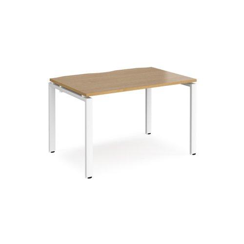Adapt starter unit single 1200mm x 800mm - white frame and oak top