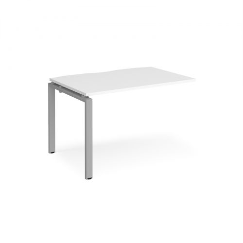 Adapt II add on unit single 1200mm x 800mm - silver frame, white top