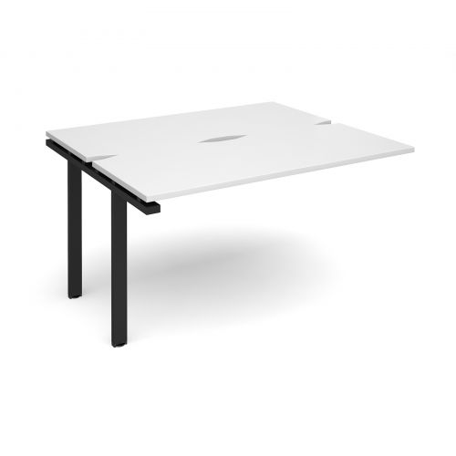 Adapt II add on unit single 1400mm x 1200mm - black frame, white top