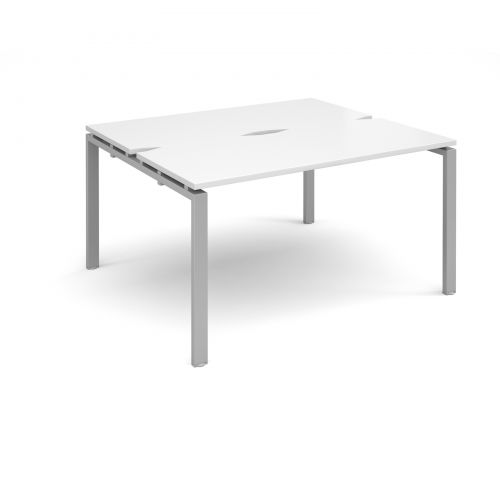 Adapt II starter units back to back 1400mm x 1200mm - silver frame, white top