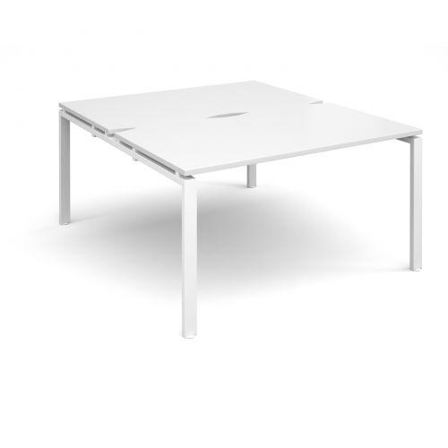 Adapt II starter units back to back 1400mm x 1600mm - white frame, white top
