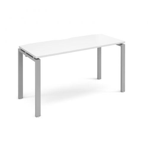 Adapt II starter unit single 1400mm x 600mm - silver frame, white top