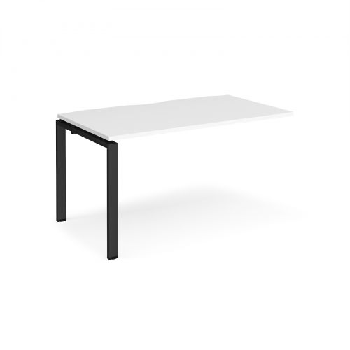 Adapt II add on unit single 1400mm x 800mm - black frame, white top