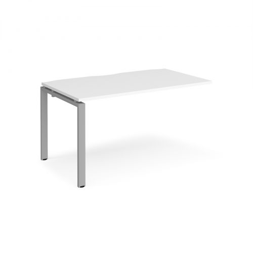 Adapt II add on unit single 1400mm x 800mm - silver frame, white top