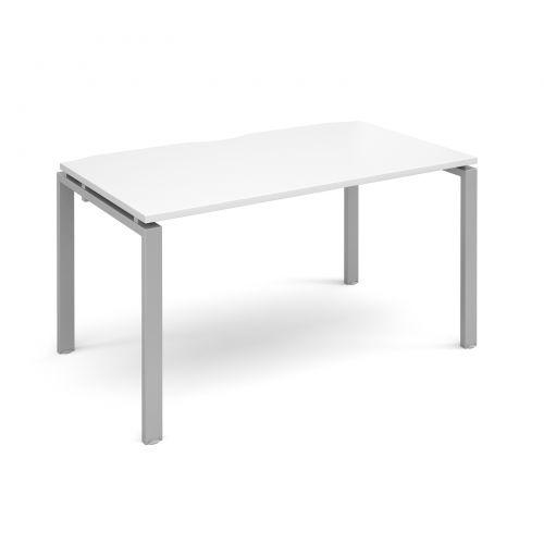 Adapt II starter unit single 1400mm x 800mm - silver frame, white top