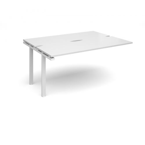 Adapt II add on units back to back 1600mm x 1200mm - white frame, white top