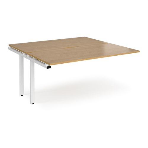 Adapt add on units back to back 1600mm x 1600mm - white frame and oak top