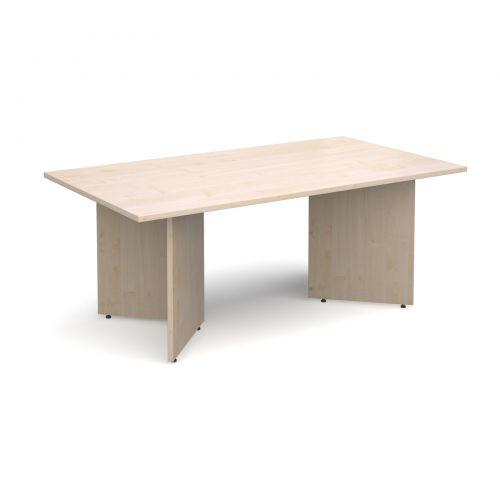 Image for Arrow head leg rectangular boardroom table 1800mm x 1000mm - maple