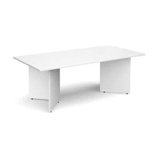 Arrow head leg rectangular boardroom table 2000mm x 1000mm - white