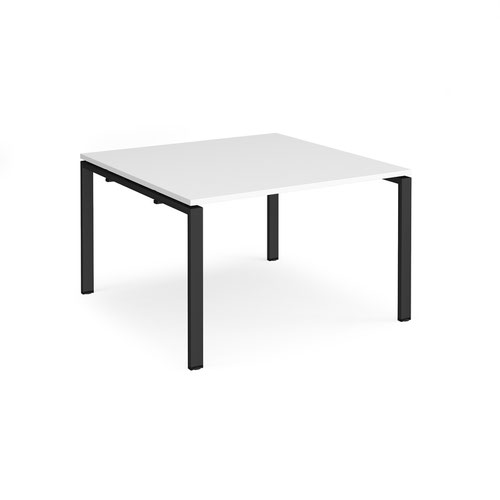 Adapt boardroom table starter unit 1200mm x 1200mm - black frame and white top