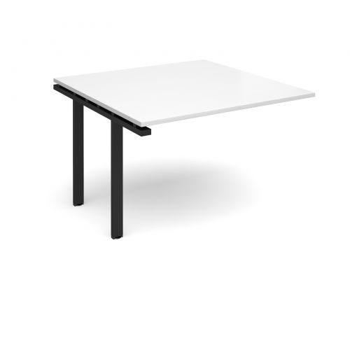 Image for Adapt II boardroom table add on unit 1200mm x 1200mm - black frame and white top