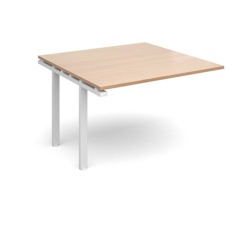 Image for Adapt II boardroom table add on unit 1200mm x 1200mm - white frame and beech top