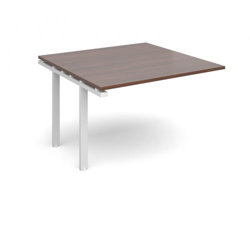Image for Adapt II boardroom table add on unit 1200mm x 1200mm - white frame and walnut top