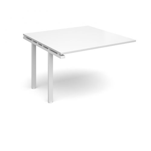 Image for Adapt II boardroom table add on unit 1200mm x 1200mm - white frame and white top
