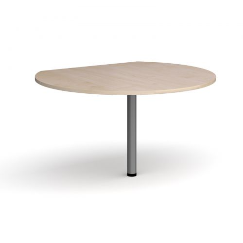Image for D-end desk extension circular table 1200mm diameter with graphite leg - maple top